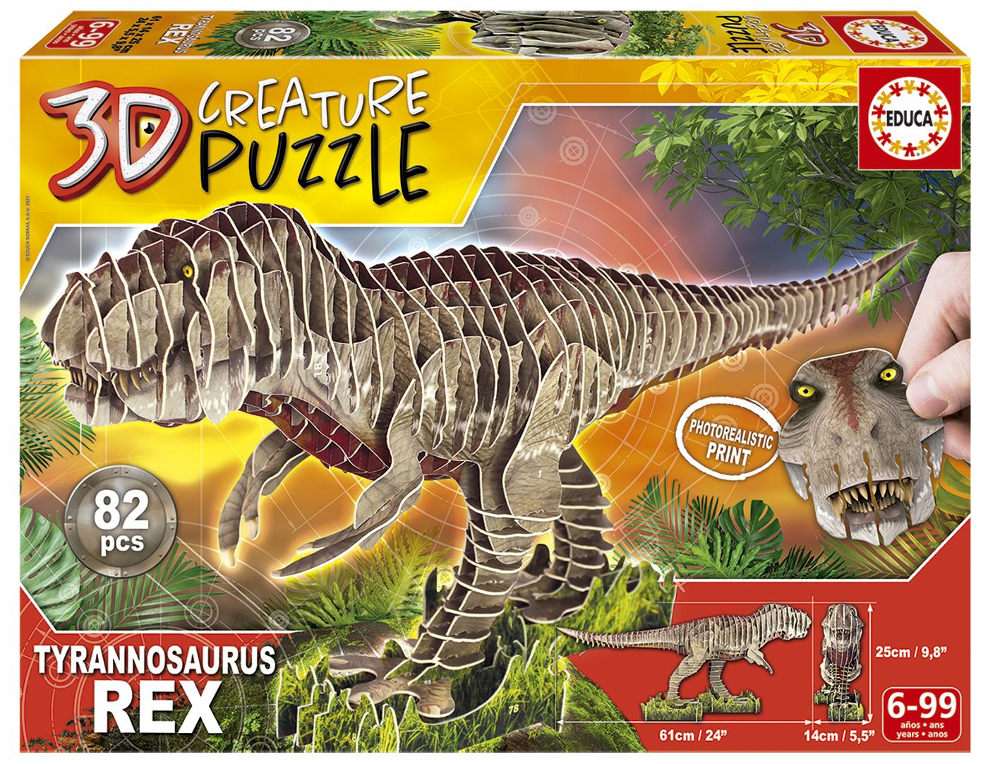 T-Rex 3D Creature Puzzle