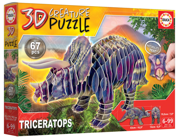 Triceratops 3D Creature Puzzle