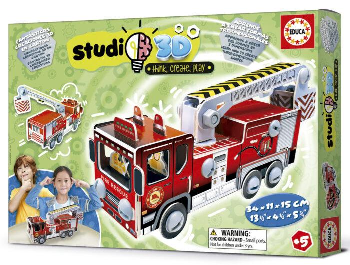 Camión de Bomberos Studio 3D
